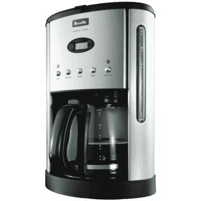 Breville - Aroma Style Electronic Drip Coffee Machine - Stainless Steel